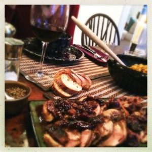-- Spring dinners as as yummy as Autumn ones. --