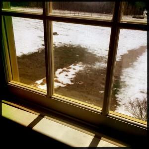 """-- When it's un-springlike outside, do you tape inside."""""""